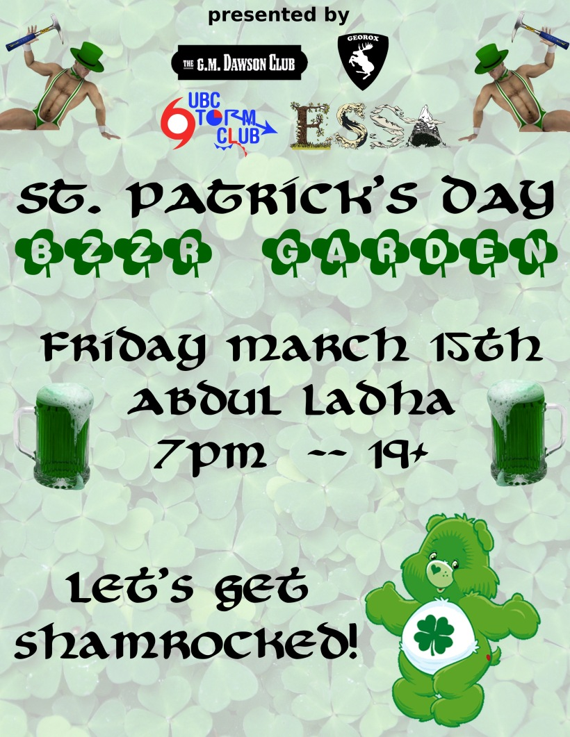 St. Patrick's Day March 15th at Ladha